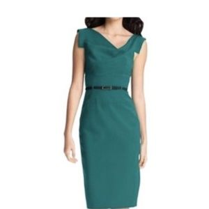 Black Halo Green Jackie O Classic Dress